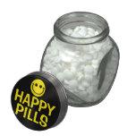 Píldoras felices jarras de cristal jelly bely
