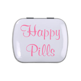 Píldoras felices latas de dulces