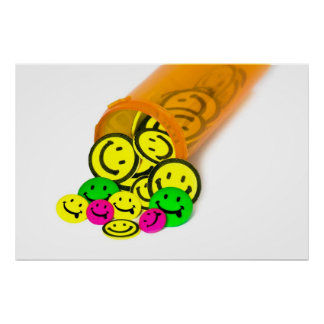 Píldoras felices póster