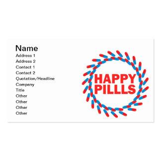 Píldoras felices tarjetas de visita