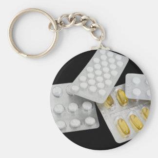 Píldoras Llavero Redondo Tipo Pin