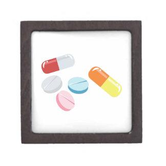Píldoras mezcladas cajas de recuerdo de calidad