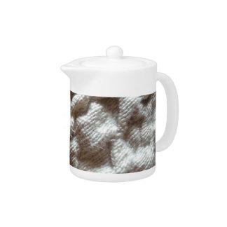 pile fabric teapot