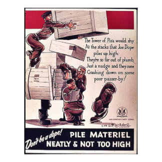 Pile Materiel Neatly & Not Too High Flyer