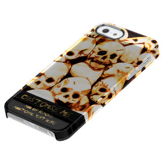 Pile-O-Skulls (Aged) Clear iPhone SE/5/5s Case