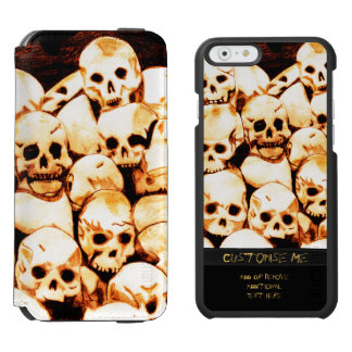 Pile-O-Skulls (Aged) iPhone 6/6s Wallet Case