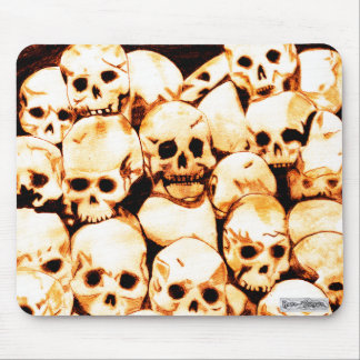 Pile-O-Skulls (aged) Mousemat Mouse Pad