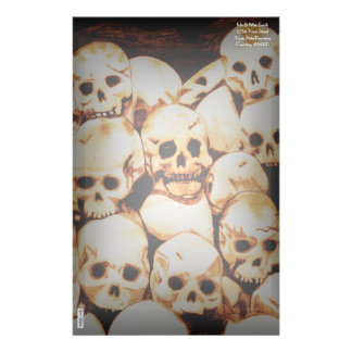 Pile-O-Skulls (aged) Personalized Stationery