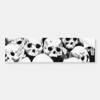 Pile-O-Skulls Bumper Sticker (design3)