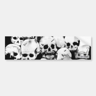 Pile-O-Skulls Bumper Sticker (design 2)