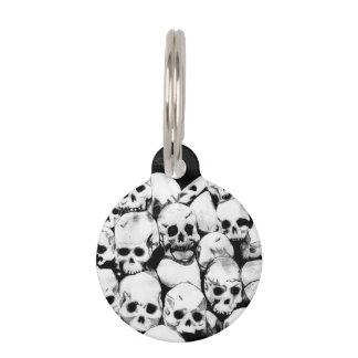Pile-O-Skulls Pet Name Tag