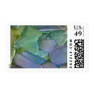 Pile of blue beach glass, Alaska Postage