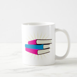 Pile of Books Classic White Coffee Mug