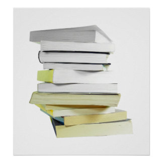 Pile of Books Poster