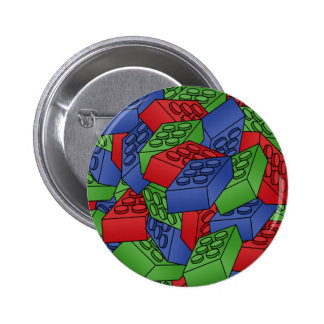 Pile of Building Blocks 2 Inch Round Button