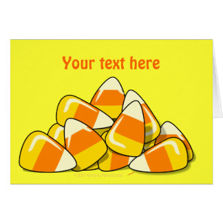 Pile of Candy Corn Halloween Template