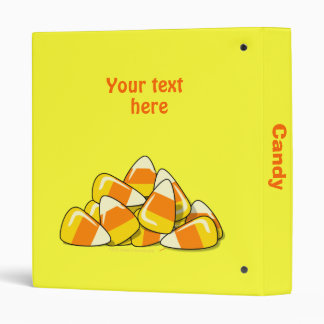 Pile of Candy Corn Halloween Template Binder
