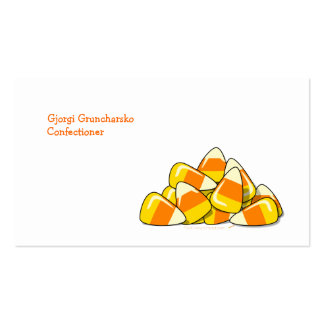 Pile of Candy Corn Halloween Template Double-Sided Standard Business Cards (Pack Of 100)