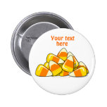 Pile of Candy Corn Halloween Template Pinback Buttons