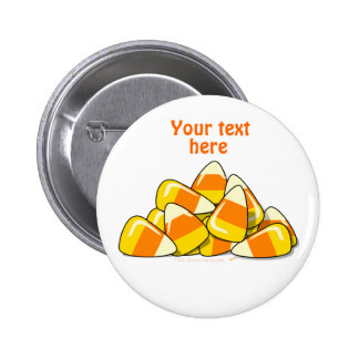 Pile of Candy Corn Halloween Template 2 Inch Round Button