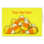 Pile of Candy Corn Halloween Template Card