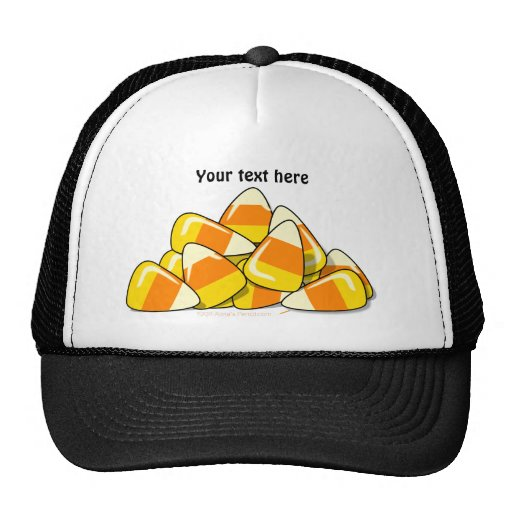 Pile of Candy Corn Halloween Template Hats