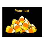 Pile of Candy Corn Halloween Template Post Card