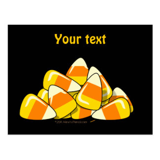 Pile of Candy Corn Halloween Template Postcard