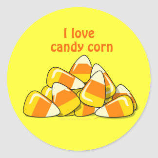 Pile of Candy Corn Halloween Template Sticker