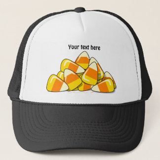 Pile of Candy Corn Halloween Template Trucker Hat