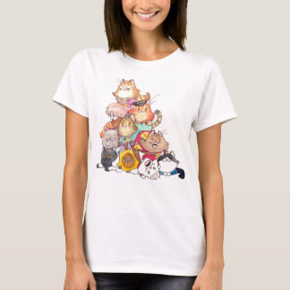 Pile of Cats tee
