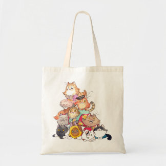Pile of Cats tote