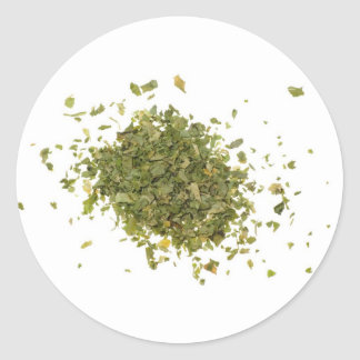 Pile of chopped coriander leaves stickers