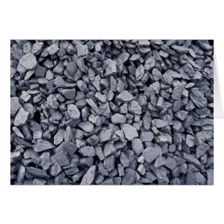 Pile of coal recently excavated from strip mine greeting card