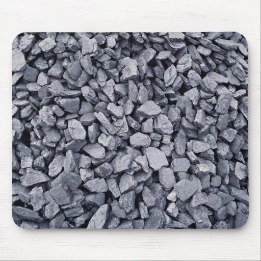 Pile of coal recently excavated from strip mine mousepad