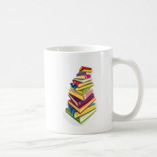 pile of color books mugs