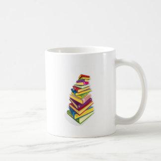 pile of color books mug