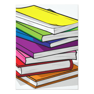 Pile of Colorful Books Card