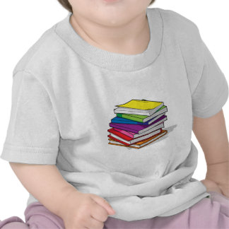 Pile of Colorful Books T Shirts