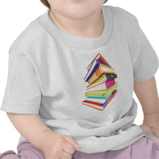 Pile of colorful books shirts