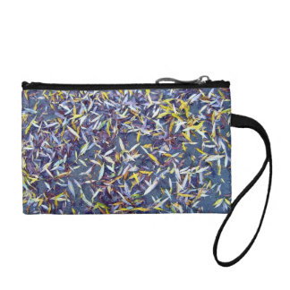 Pile of Colorful Fallen Leaves Change Purse