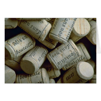 Pile of corks cards