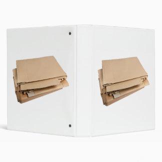 Pile of corrugated cardboard 3 ring binder