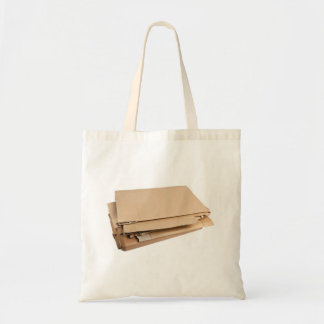 Pile of corrugated cardboard canvas bags