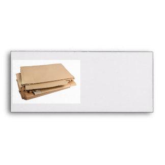 Pile of corrugated cardboard envelopes