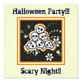 Pile of cute skulls Halloween custom products Card
