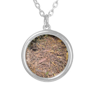 Pile of dried leaves and grass custom necklace