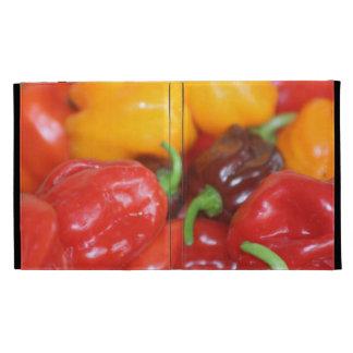 pile of habanero hot peppers iPad folio cases