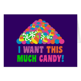 Pile of Halloween Candy Card