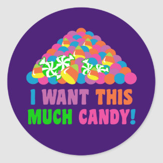 Pile of Halloween Candy Classic Round Sticker